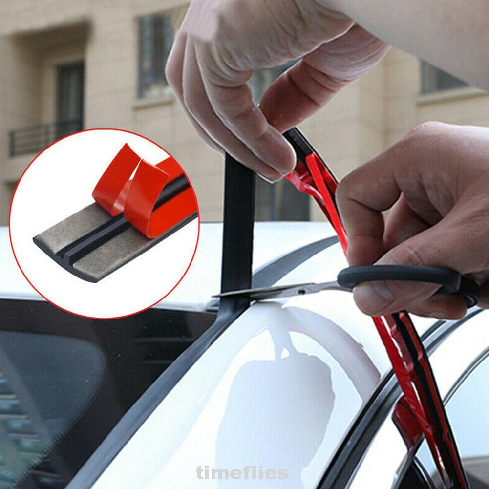 Car Rubber Seal Strips Auto Seal Protector Sticker Window Edge Windshield Roof Rubber Sealing Strip Noise Insulation Accessories