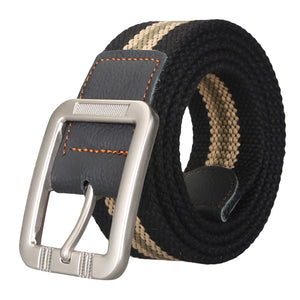 cozyrex,Men's Business Alloy Buckle Woven Stretch Belt,CozyRex,