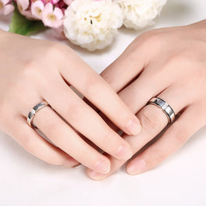 cozyrex,Heart Crystal Forever Love Couple Finger Ring Women Men Jewelry Wedding Birthday Gift,CozyRex,