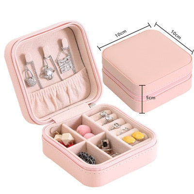 Makeup Organizers & Jewelry Box Storage Accessories - Woman Necklace Earrings Rings