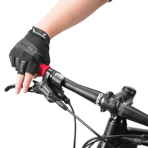 Bicycle Gloves Fingerless Cycling Gloves for Men Women Anti-slip Anti-sweat Half Finger Breathable Sport Anti-Leather Bike Glove