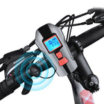 Bike Light Front USB Horn Speed Meter Charging Bike Bicycle Light Flashlight Handlebar Cycling Head LED Lights Bike Accessories