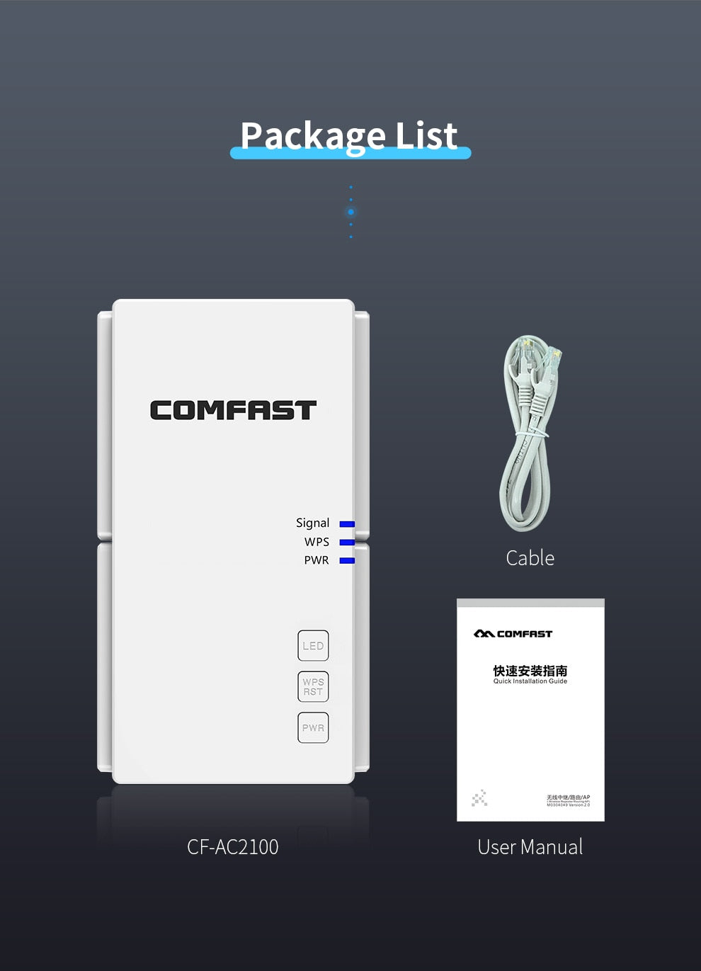 2100Mbps Gigabit Long Range Extender 802.11ac Wireless WiFi Repeater Wi Fi Booster 2.4G/5Ghz Wi-Fi Amplifier router Access Point