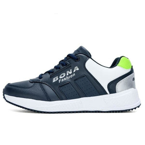 BONA 2020 New Arrival Action Leather Running Shoes Men Top Quality Multicolor Man Fashion Sports Sneakers Male Jooging Footwear