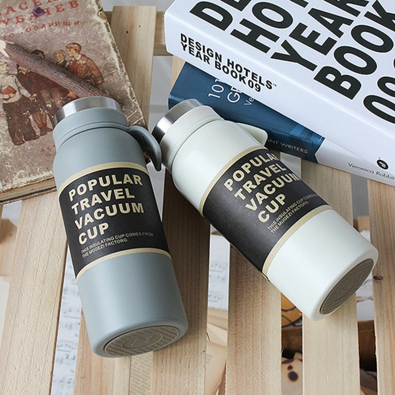 350ml/500ml Double Stainless Steel Vacuum Flask Coffee Tea Thermos Mug Travel Thermal Bottle Tumbler Insulation Cup