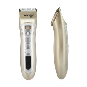 Professional USB Pet Dog Hair Trimmer Animal Grooming Clippers Low-noise Cat Cutter Machine Shaver Electric Scissor Clipper home (gold)