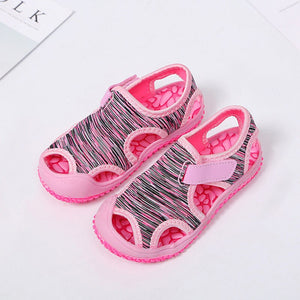 Summer Baby Girls Boys Sandals Children Beach Sandals Soft Bottom Non-slip Infant Shoes Kids Outdoor Anti-collision Shoes