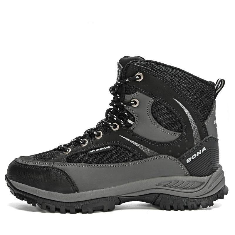 BONA 2020 New Designers Nubuck Shoes Men Outdoor Sports Tactical Male Boots Hiking Mountain Shoes Man Camping Climbing Footwear