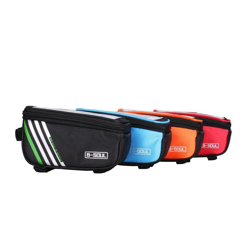 Bicycle Bag Waterproof Bike Cell For 4.0~5.7in Mobile Phone Case Bicycle Panniers Frame Front Tube Bike Bags Cyling Accessories