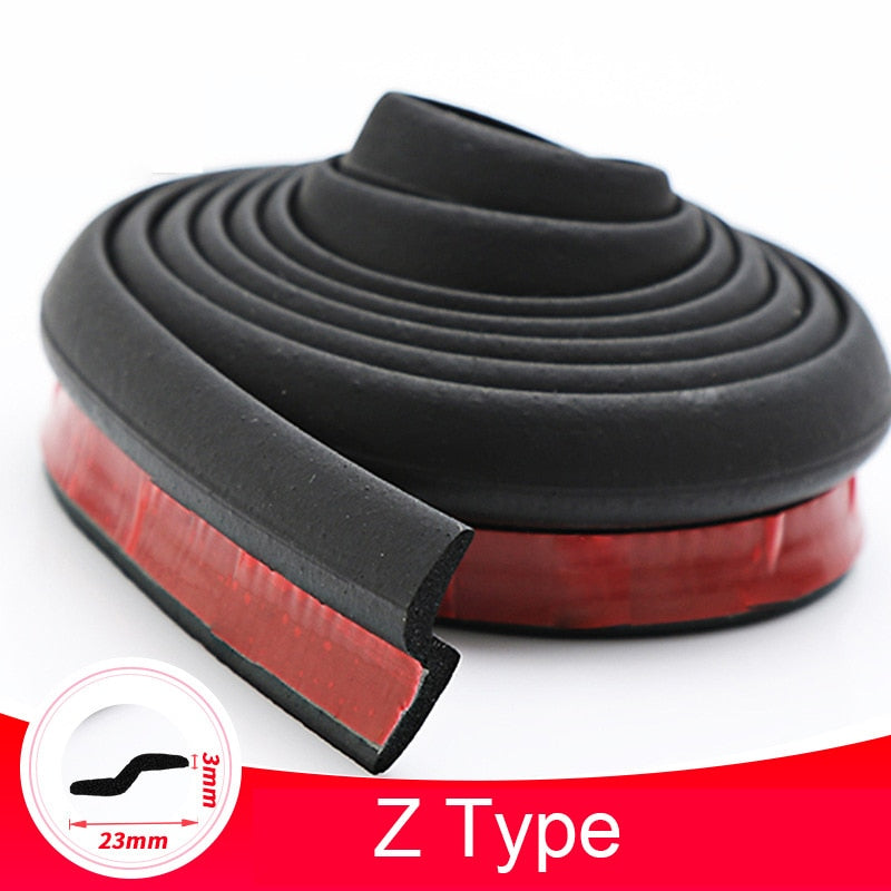 Car Door Seal Strip Auto Stickers Rubber D Z P Type Noise Insulation Anti-Dust Soundproofing Sealing Strips Interior Accessories