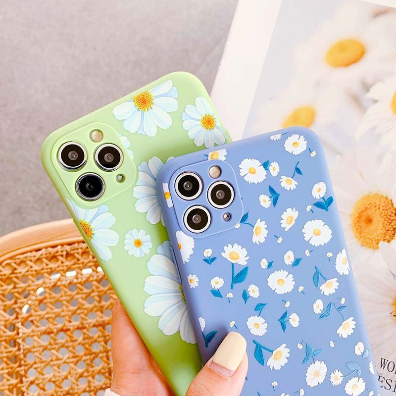 Flower Silicone Phone Case For iPhone 7 8 Plus Case 11 Pro Max X XR XS Max SE 2020 Cute Floral Soft Back Cover Coque