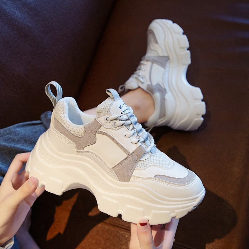 cozyrex,2020 Winter Platform Sneakers Women Spring 8CM Thick Bottom Dad Shoes Height Increased Casual Shoes Breathing Warm Leisure Shoes,CozyRex,200129145