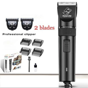 Professional Dog hair trimmer Electric Pet Cat Hair Clipper Grooming Shaver Set Pets Haircut Machine  + Spare Head 110-240V AC