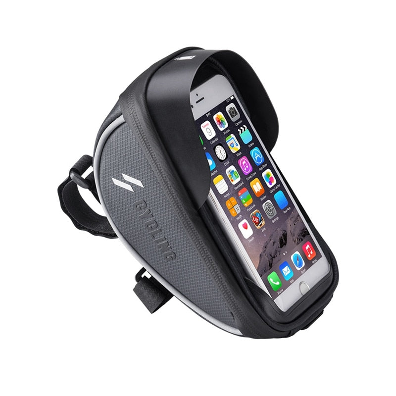 Bicycle Bag Frame Front Top Tube Rainproof Bike Bags 6.0in Phone Case Waterproof Touchscreen Bicycle Bag MTB Cycling Accessories