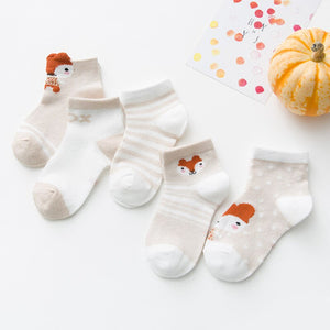 5Pairs/lot 2-12Y Children Socks Baby Socks for Girls Cotton Mesh Cute Newborn Boy Toddler Socks Baby Clothes Accessories