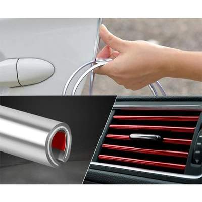 10m Car Door Scratch Protector Car Door Strip PVC Rubber Anti Collision Edge Scratch Protection For Door Hood Trunk Accessories
