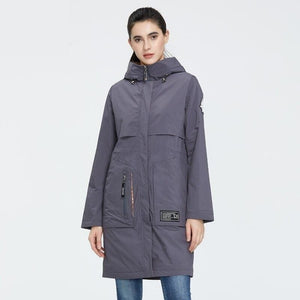 ICEbear 2020 New Women Coat Long Women Jacket Quality Women parka Fashion Casual Women Clothing Brand Women Clothing GWC20727I