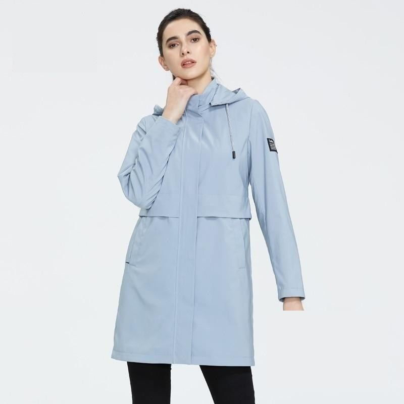 ICEbear 2020 Fashionable women's windbreaker high-quality women's trench coat with a hood women's spring clothing GWF20017i