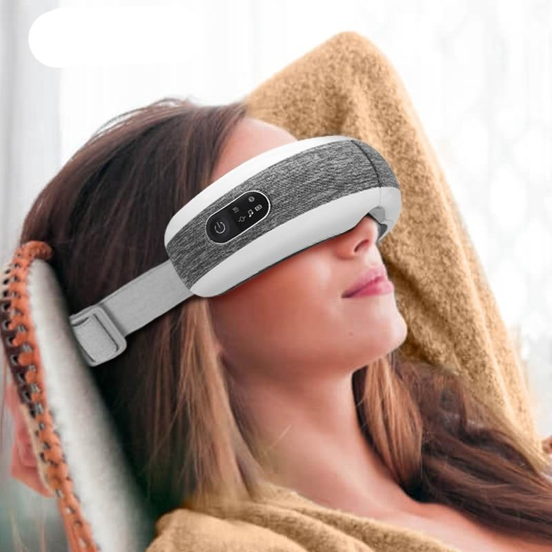 KLASVSA Smart Eye Massager Air Compression Heated Massage For Tired Eyes Dark Circles Remove Massage Relaxation