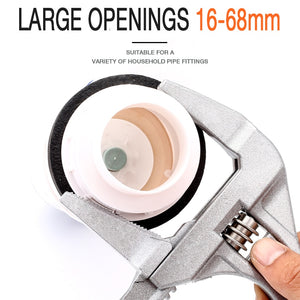 Multi-function Short Handle Universal Wrench Large Opening Bathroom Wrench Adjustable Aluminum Alloy Repair Tool