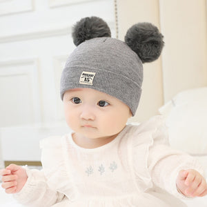 Baby hat Kids Winter Hats Ears Girls Boys Children Warm Caps Scarf Set Baby Bonnet Enfant Knitted Cute Hat for Baby Girl Boy