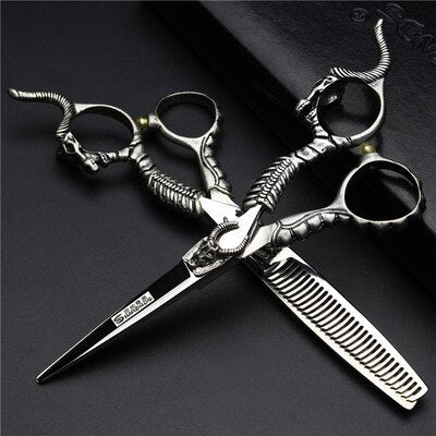 5.5/6 inch hairdressing scissors flat cut pet scissors hair salon haircut thin scissors professional hairdressing scissors set