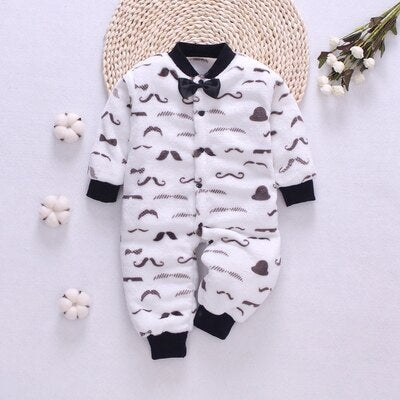 Unisex Baby winter clothes Flannel Baby romper soft Newborn Clothing Roupas Infant jumpsuit Baby rompers for baby boy