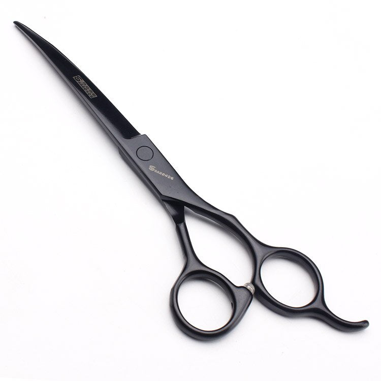 DOG grooming scissors set curved 7 inches professional 7.5 inch cat pet scissors dog grooming Barber Cutting Tools balck pink