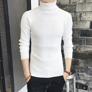 Cashmere sweater men's 2018 winter turtleneck Long sleeve sweater Thicken Solid color sweater cotton slim Sweaters RE0919