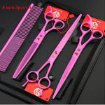 Purple dragon 7.0 inch 8 inch Professional Pet Grooming Scissors for Dog High Quality Straight & Thinning & Curved Scissors
