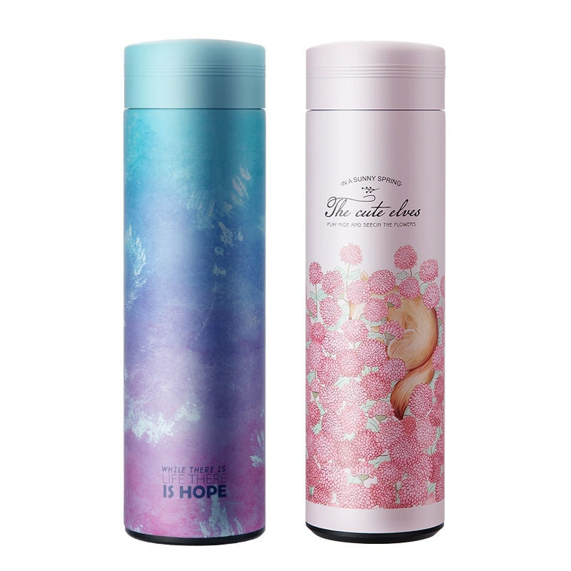 Fashion 450ml Stainless Steel Vacuum Cup With Filter Coffee Tea Thermos Mug Thermal Bottle Travel Drink Bottle For Gifts