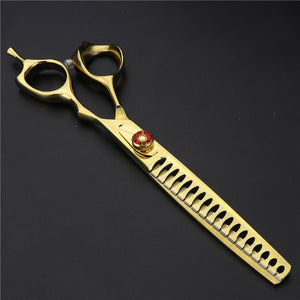 7 inch purple dragon dog grooming scissors set pet dog scissors professional curved cutting shears thinning makas tijeras