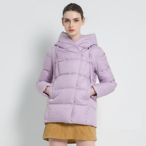 ICEbear 2019 new winter women's parka brand clothing casual ladies winter jacket warm ladies short hooded Apparel GWD19011