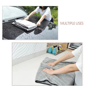 Car Wash Towels Microfiber Washing Drying Towel Strong Thick Plush Polyester Cleaning Cloth Car Detailing Wash Auto Accessories