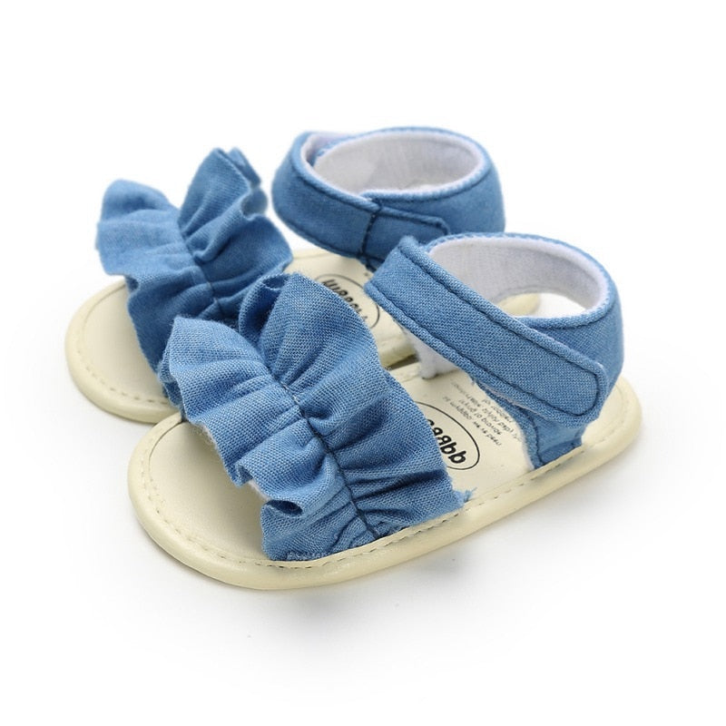cozyrex,Summer Baby Sandals for Girls Newborn Dot Bow Princess Baby Girl Shoes Cotton Sandals Baby Girl Shoes,CozyRex,200000944