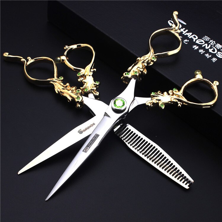 5.5/6/7 Inch Pet Scissors Dog Grooming Scissors for Groomer Japan Cutting Shears Sharp Edge Animals Haircut Logo Engraving