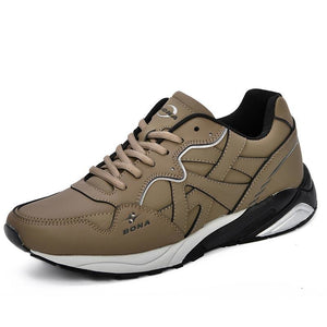BONA New Classics Style Men Tennis Shoes Lace Up Men Sport Shoes Quality Comfortable Non-Slip Running Shoes Man Outdoor Trendy