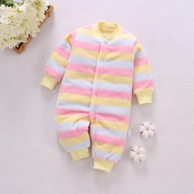 winter fleece baby romper long sleeve newborn coat jumpsuit baby clothes boy girl clothing soft infant new born warm rompers
