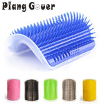 cozyrex,Corner Cat Brush Pet Comb Play Toy Plastic Scratch Bristles Arch Massager Self Grooming Scratcher Cats Toys,CozyRex,