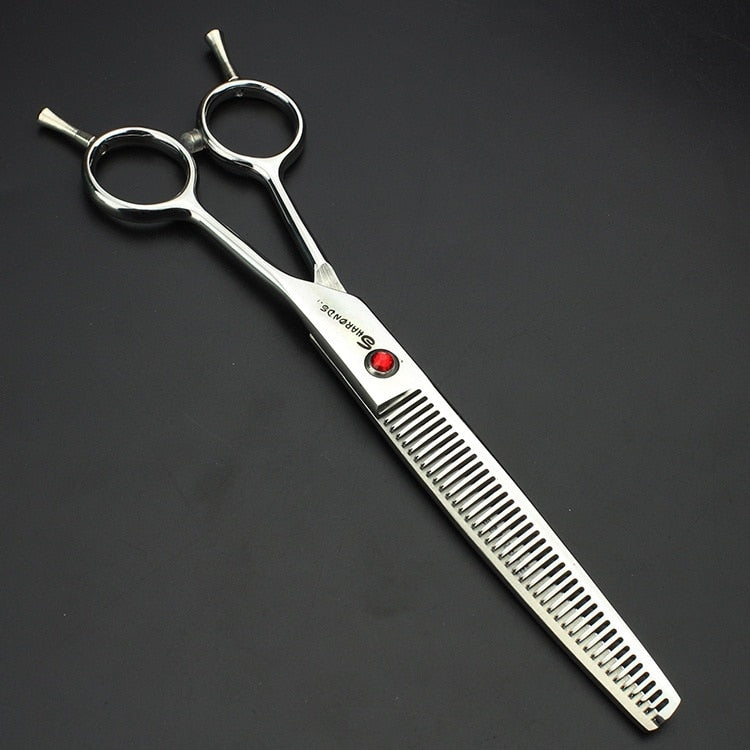 7 inch Professional dog grooming kit for maltese pet groom cutting scissors groomer thinning shears cats small animal tijeras