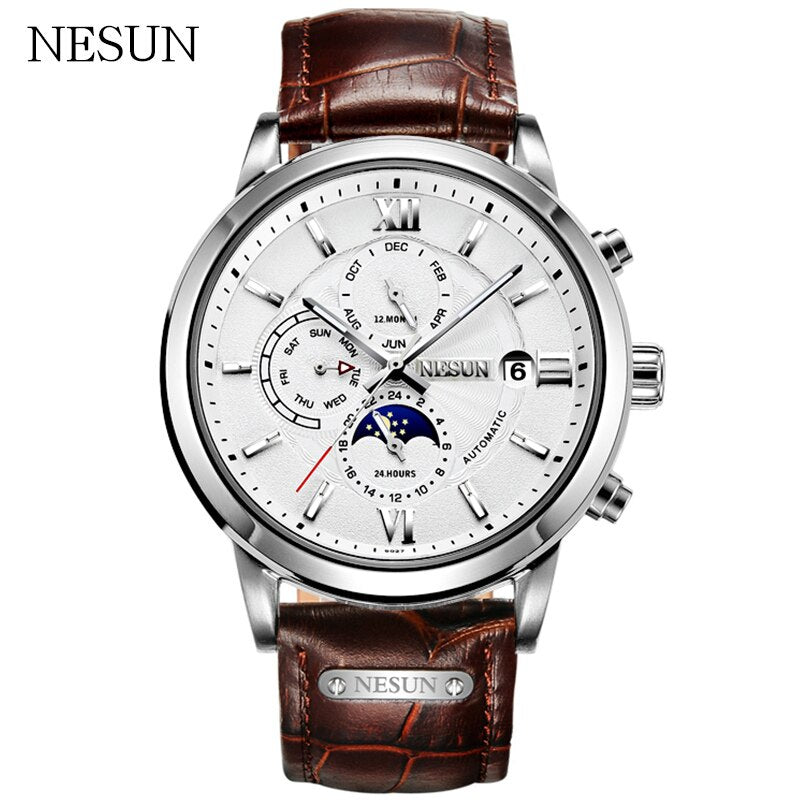 NESUN Brand Men Creative Simple Automatic Mechanical Wristwatches Waterproof Military Sport Watches Male Clock Relogio Masculino