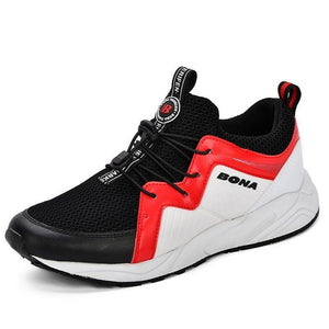 BONA Men Sport Shoes 2019 Brand Running Shoes Breathable Zapatillas Hombre High Quality Men Footwear Trainer Sneakers Outdoor