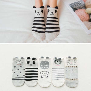 cozyrex,5 Pairs Of Cute Animal Summer Socks - Funny Ankle Women Cartoon Socks,CozyRex,200000866