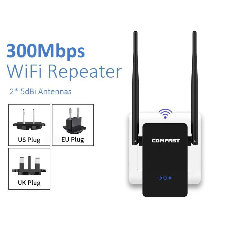 Home Wifi Repeater 300-1200Mbps Wireless Wi-fi Range Extender Amplifier 5Ghz 802.11b/g/n/ac Wifi Booster Antenna AC Wi fi Router
