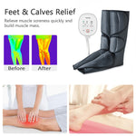 KLASVSA Leg Massager Air Compression Circulation Foot and Calf Massager with Handheld Controller 2 Modes 3 Intensities