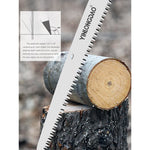 DTBD Folding Saw Heavy Duty Extra Long Blade Hand Saw For Wood Camping DIY Wood Pruning Saw With Hard Teeth Pruning Garden Tools