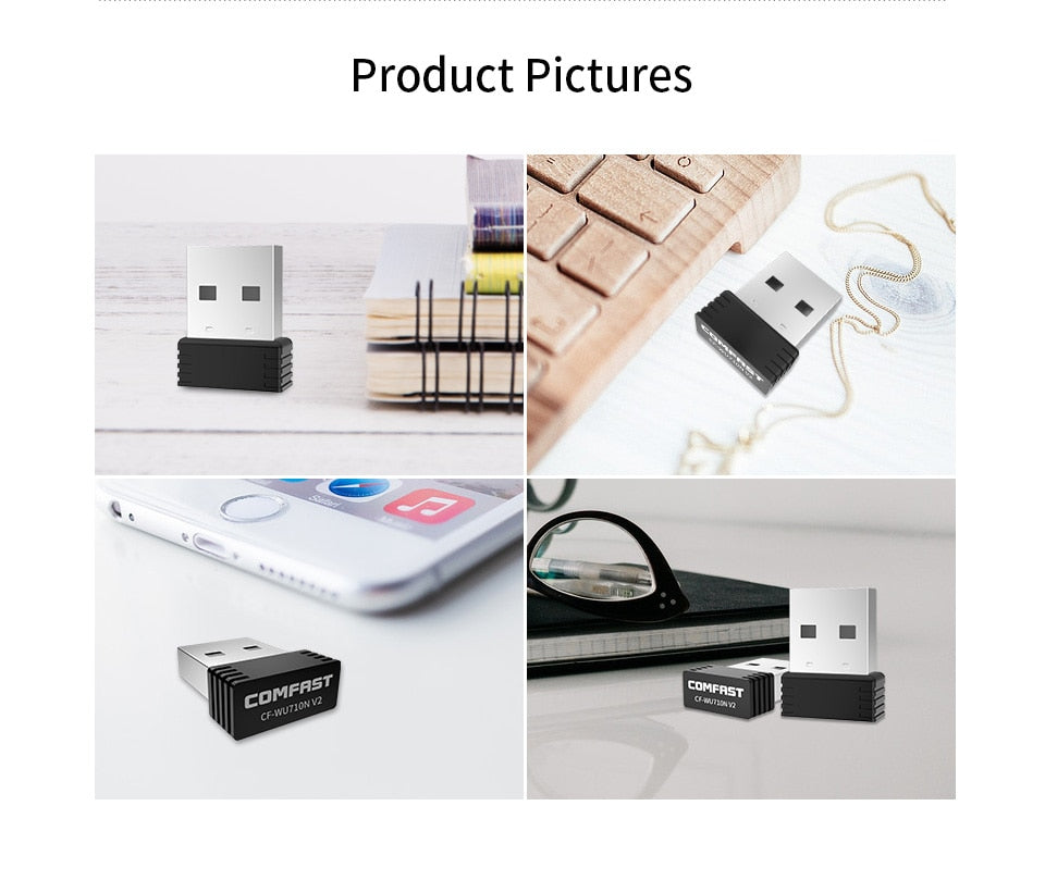 Mini USB Wifi Adapter 802.11b/g/n Antenna 150Mbps USB Wireless Receiver Dongle MT7601 Network Card Laptop TV BOX Wi-Fi Dongle