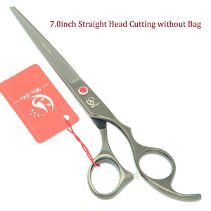 Meisha 7 inch Professional Dog Shears pet Grooming Scissors Set Puppy Cat Cutting Tesoura Thinning Curved Styling Tools HB0239
