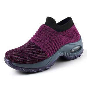 cozyrex,DAHOOD Women Running Walking Shoes Hot Autumn New Mesh Breathable Knit Ladies Mix Colors Sneakers Soft Platform Slip On Loafers,CozyRex,200129145