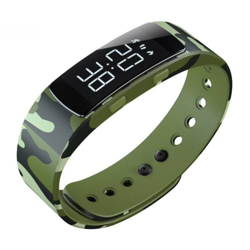 Colourful Cartoons Fashion Camouflage Women Digital Sports Watch Waterproof Electric Luminous Clock Charging LED Wristwatch 2020
